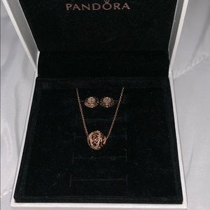Pandora Earrings and Necklace